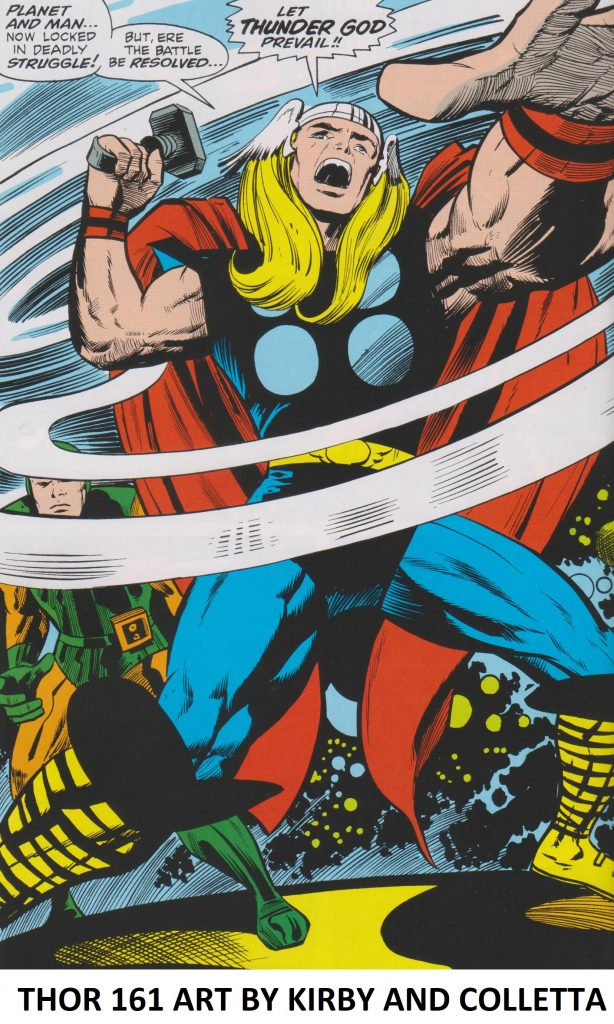 Thor art by Jack Kirby and Vince Colletta